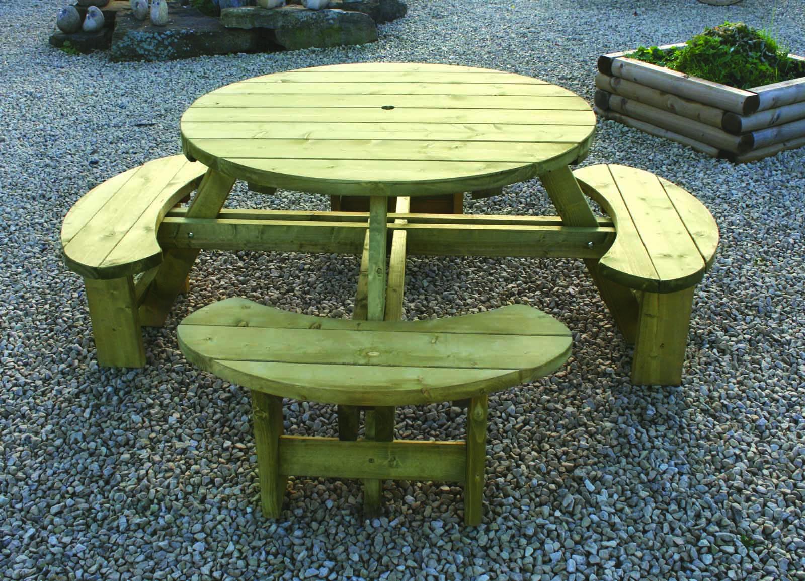 Standard Round Table.Kdm Standard Round Table Bench Seat